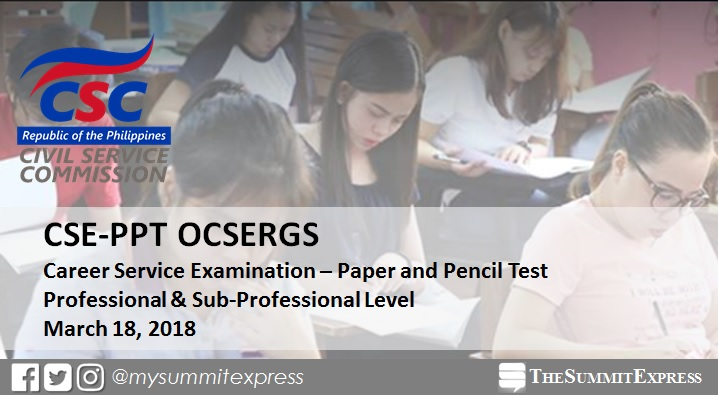Verification of Rating OCSERGS March 2018 Civil Service Exam CSE-PPT online