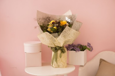 Kertas Buket Bunga / Flower Bouquet Wrapping Paper (Seri FG)