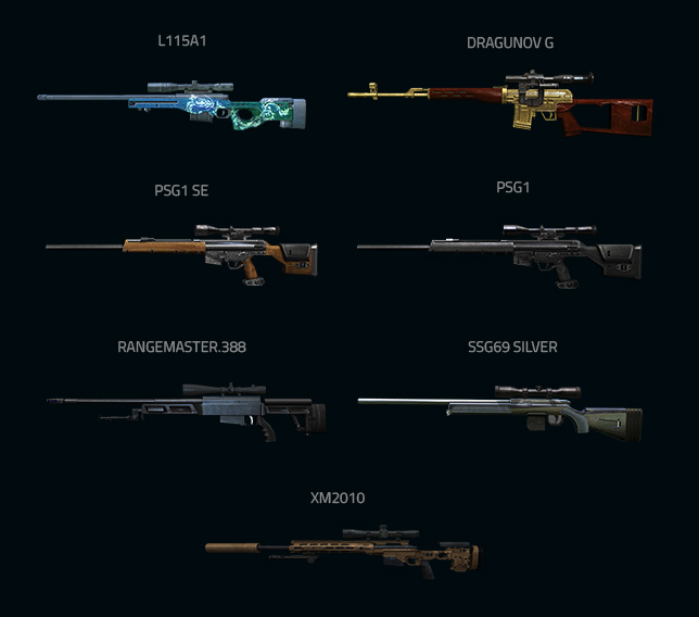 Gambar dan Nama Senjata Point Blank Terbaru Tahun 2017