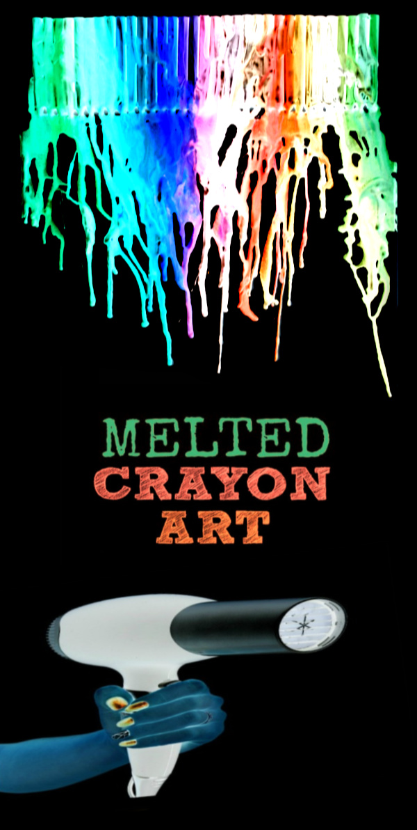 Make beautiful melted crayon art that glows in the dark!  If your kids love activities that glow then you have to try this! #meltedcrayonart #meltedcrayoncrafts #craftsforkids #crayonartmelted #crayoncrafts #meltedcrayoncanvas #canvaspainting #glowinthedark #growingajeweledrose
