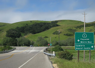 Intersection of California Highways 1 and 46, south of Cambria, California