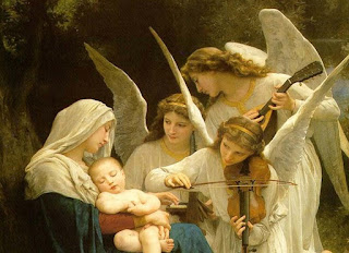 Mary and the Christ Child with Angels
