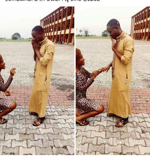 Viral Video Of How Girlfriend Propose To Her Boyfriend At Owerri Imo State - Watch