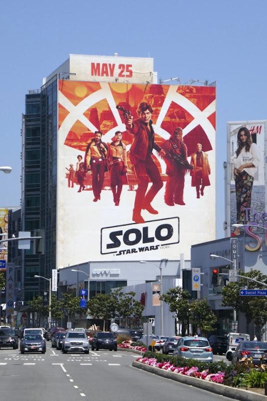 Solo Star Wars Story billboard