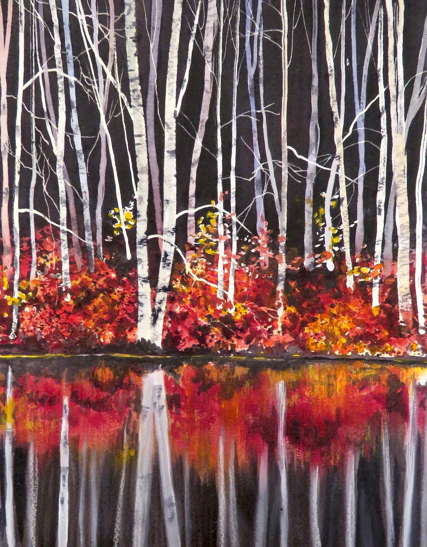 Cheryl Johnson Art: Study for Dark Water Reflection