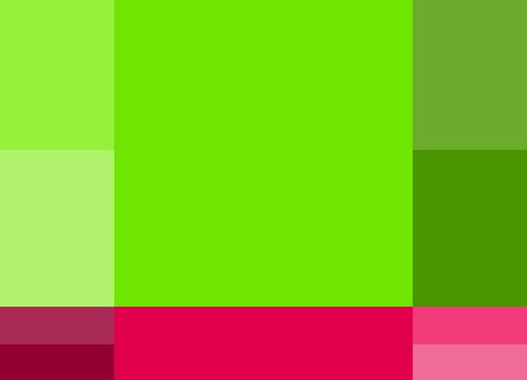 paleta de colores complementarios para blog de maternidad o manualidades