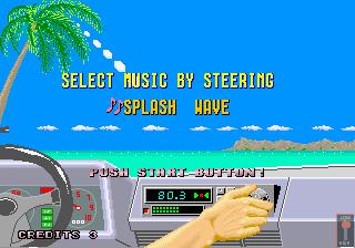 Captura de Out Run para selección de canción