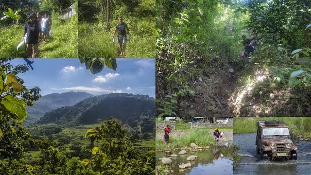The trek to Mampueng Falls Olongapo City