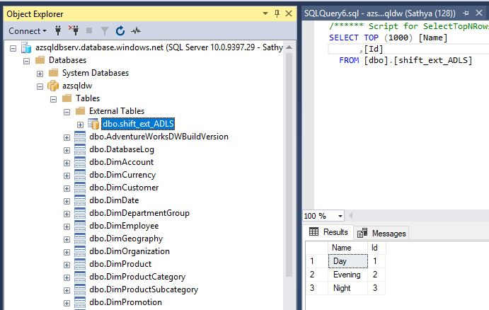 All about SQLServer: How to load data from Azure Data Lake