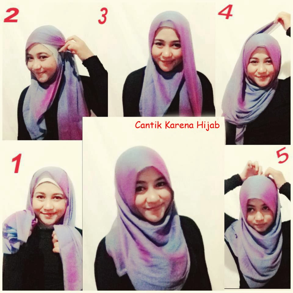 Tutorial Hijab Segi Empat Simple Dan Modern Gaya Modern