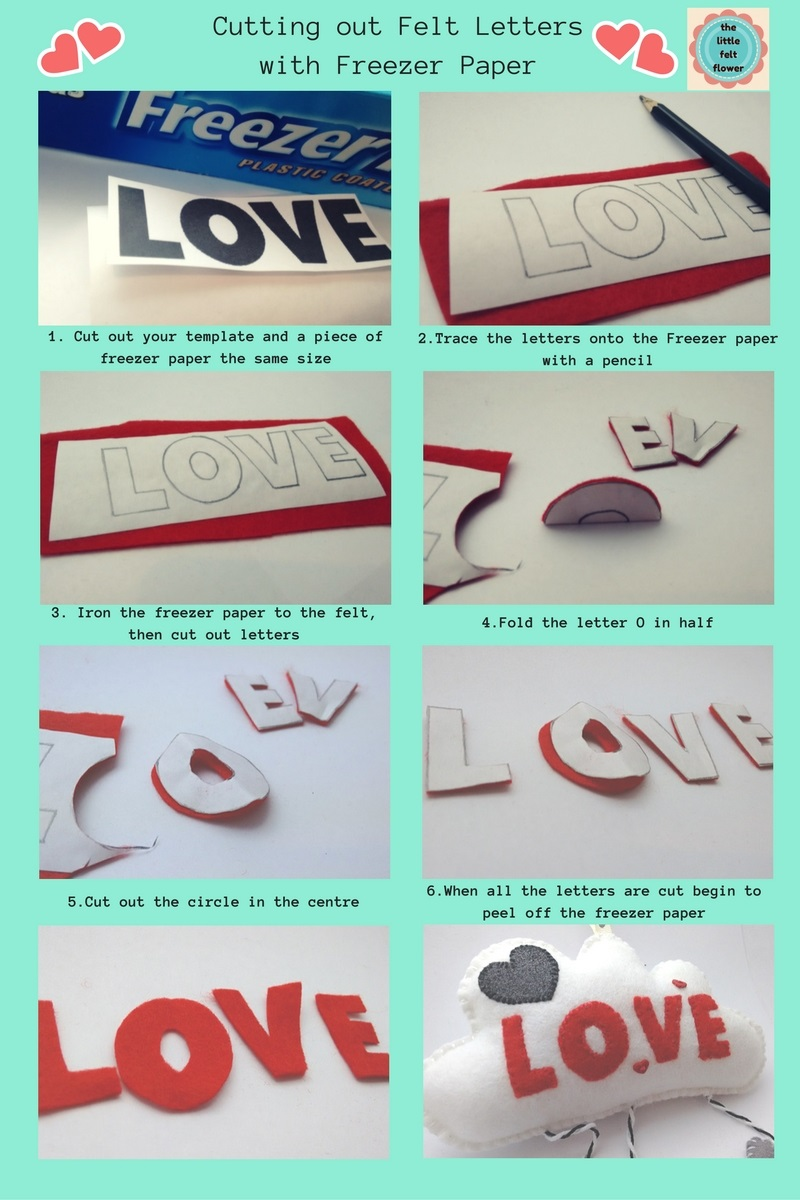 How to cut out letters in felt