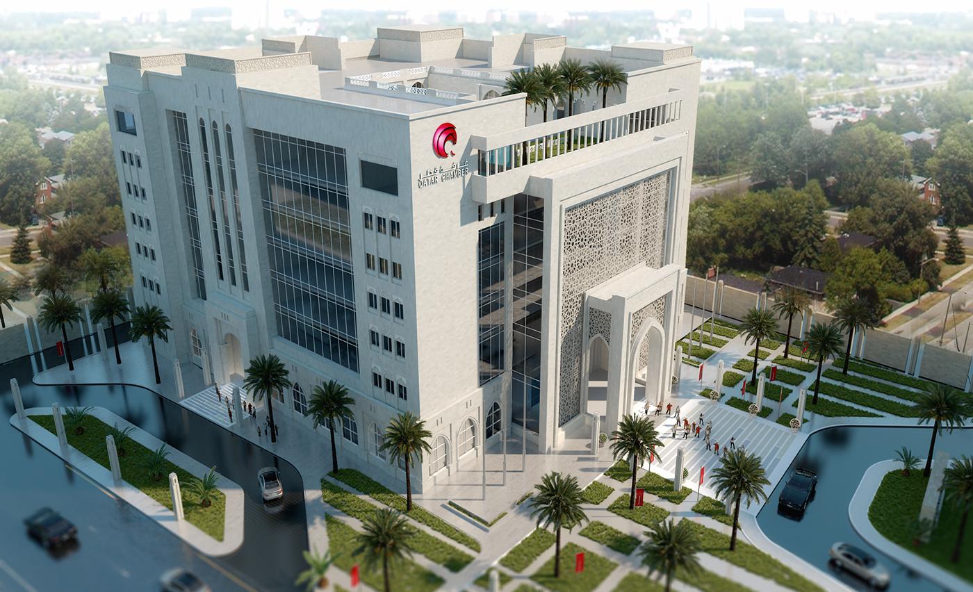 Qatar hotel 3ds max visualization architecture design for Design hotel qatar