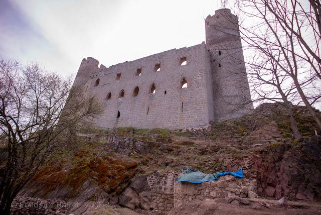 Haut-Andlau — Haut château vu depuis la basse cour (front est)