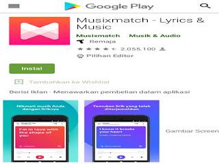 Musixmatch, aplikasi pencari lirik lagu