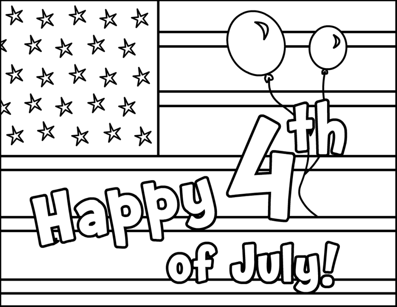 4th of july printable coloring pages - independence day usa for coloring part 1
