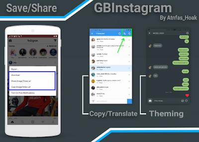 Tampilan Aplikasi Instagram Mod GBInsta Plus