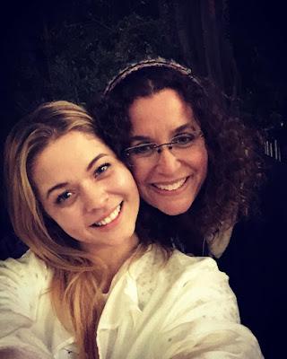 PLL bts Sasha Pieterse (Alison) filming episode 7x03