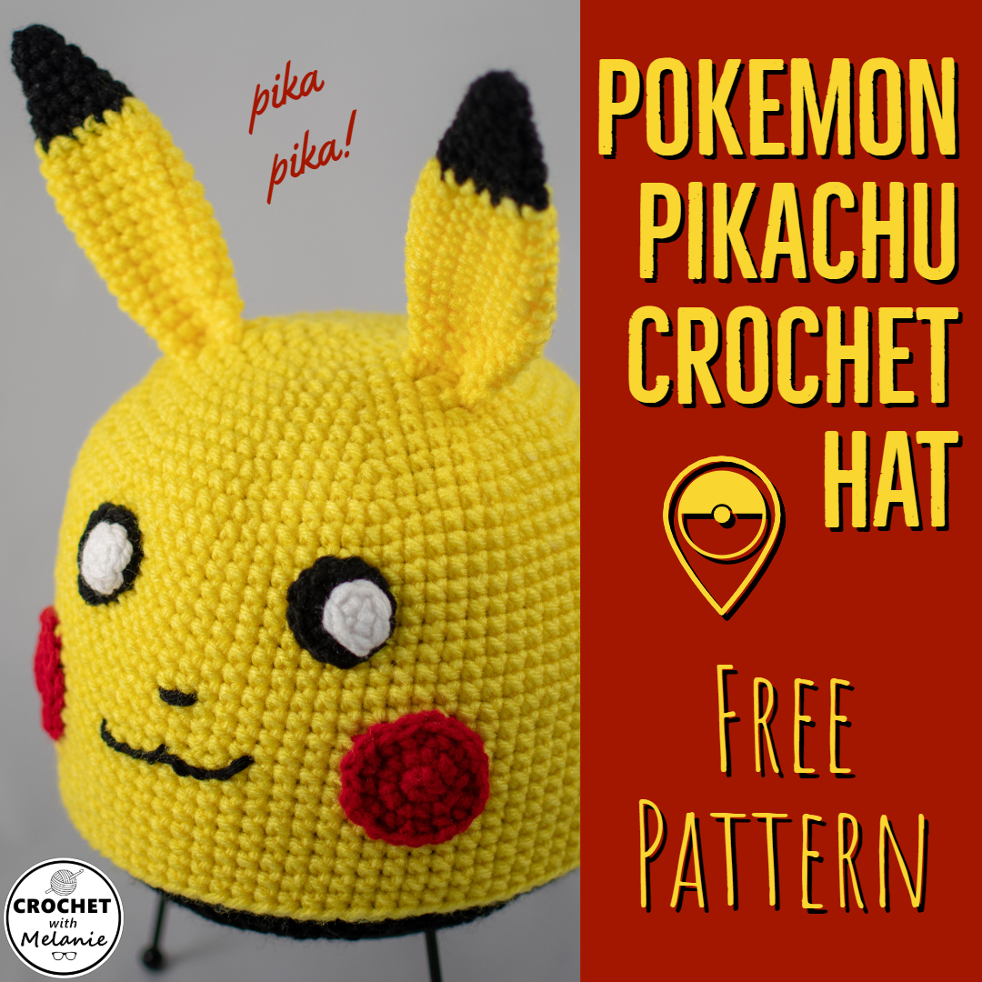 Pikachu Hat - Free Crochet Pattern