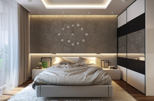 Sophisticated decor evokes a restful feeling in the visualization