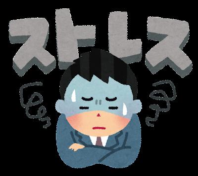 ストレスを抱えている人のイラスト(男性)