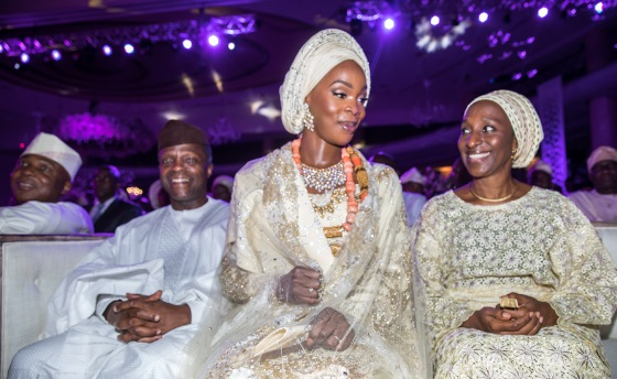 Vice-president Osibanjo in Sen. Saraki's daughter's wedding ceremony