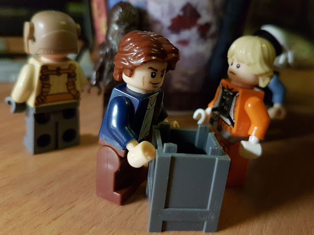 Han Solo and Luke pilot, A New Hope lego Star Wars