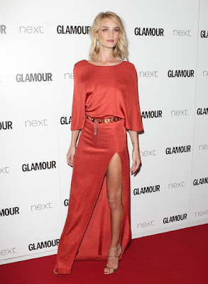 Rosie Huntington-Whiteley stuns in a backless dress at the 2015 Glamour Women Of The Year Awards