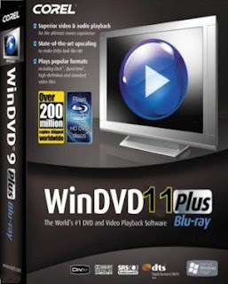 برنامج  Corel WinDVD Pro 11.7.0.12عملاق تشغيل الميديا عالية الجودة HD وأسطونات الدي في دي DVD 3D والبلوراي blu-ray 3D ثلاثية الابعاد