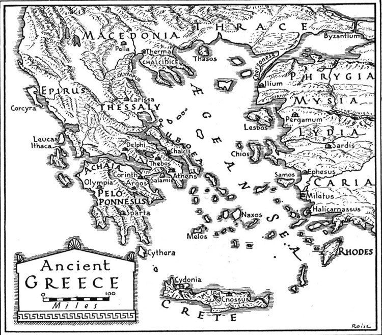 Map of Ancient Greece - Free Printable Maps