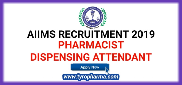 AIIMS Recruitment 2019 - Apply for Pharmacist job 31 posts in AIIMS