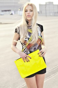 Wild things Bershka yellow bag