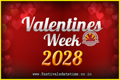 2028 Valentine Week List : 2028 Valentine Week Schedule, Hug Day, Kiss Day, Valentine's Day 2028