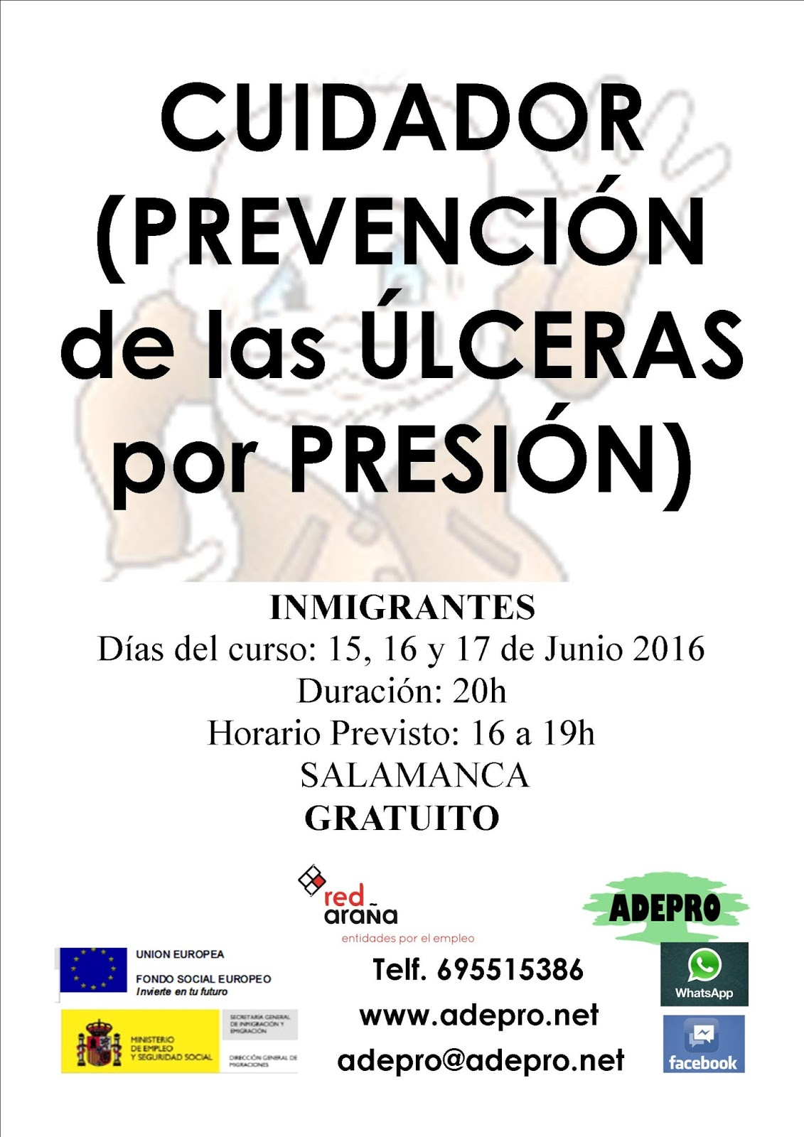 ACTUALIDAD: Salamanca. INMIGRANTES. CURSO PREVENCION DE..