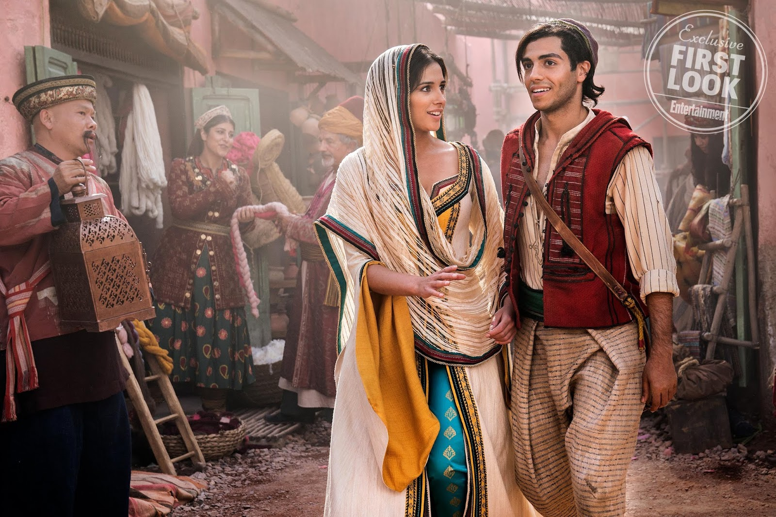 first look photos from Disney's live-action Aladdin
