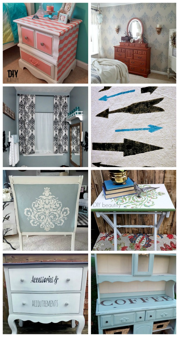 DIY stencil projects and tutorials that you can make for your home! DIY beautify