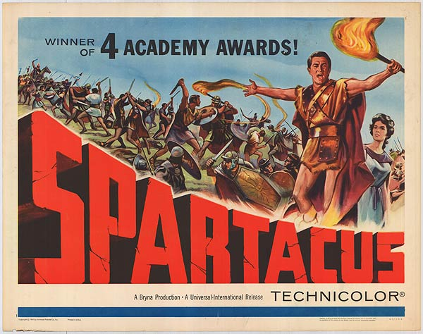 Kirk Douglas Spartacus (1960) movieloverreviews.filminspector.com