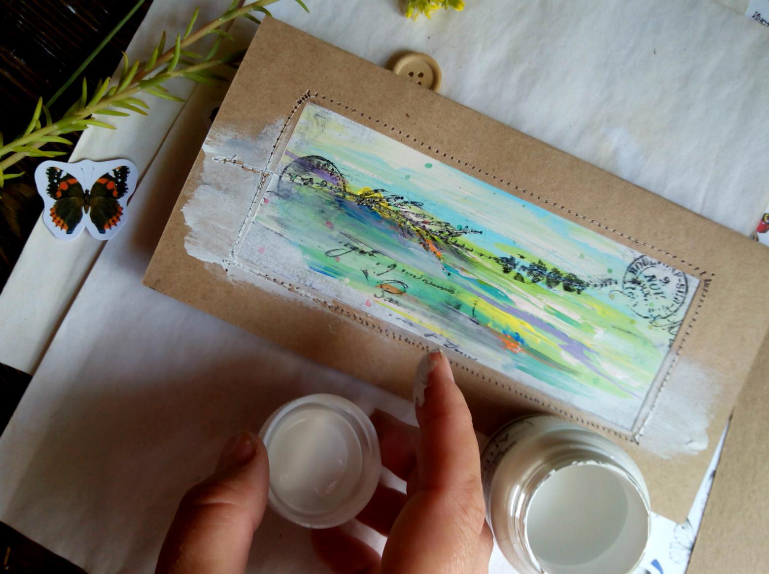 Открытки для рисования акрилом