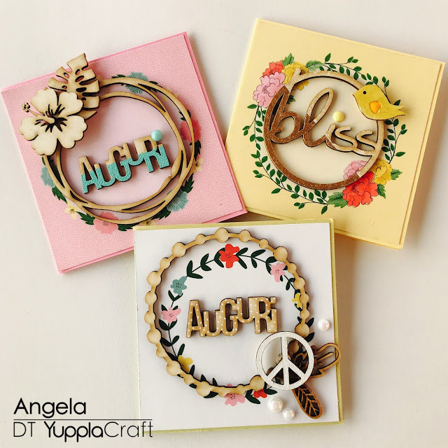 Card Auguri by Angela Tombari per Yuppla Craft DT