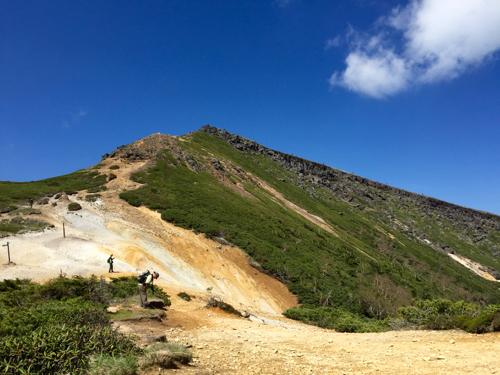 赤岩の頭から硫黄岳山頂方面