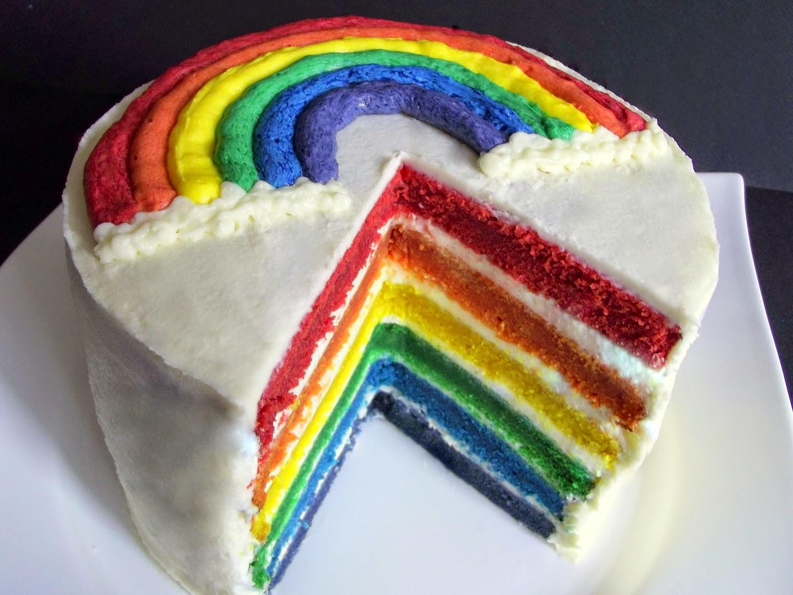 Backen Kann Jeder Regenbogenkuchen Mit Buttercremeverzierung