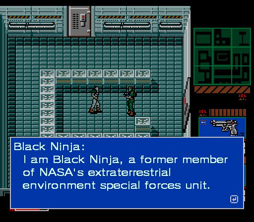 Metal Gear 2 Black Ninja NASA extraterrestrial special forces