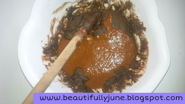 Melted black soap with turmeric, sandalwood powder, coconut oil, shea oil, olive oil and honey