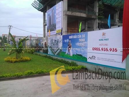 Công ty thi công hàng rào quảng cáo, backdrop hàng rào công trình HCM
