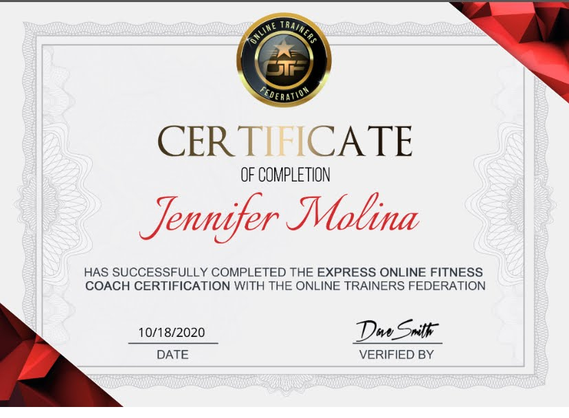 Fitness Coach Certificate