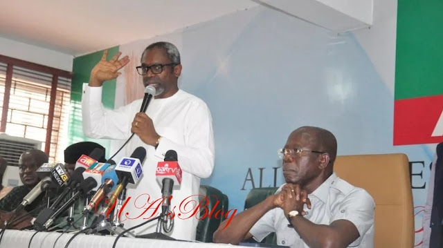 Photo News: House Of Representatives Caucus Meets With APC National Working Committee
