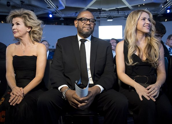 German violinist Anne-Sophie Mutter, US actor and Social Activist Forest Whitaker, and Colombian singer and UNICEF Global Ambassador Shakira