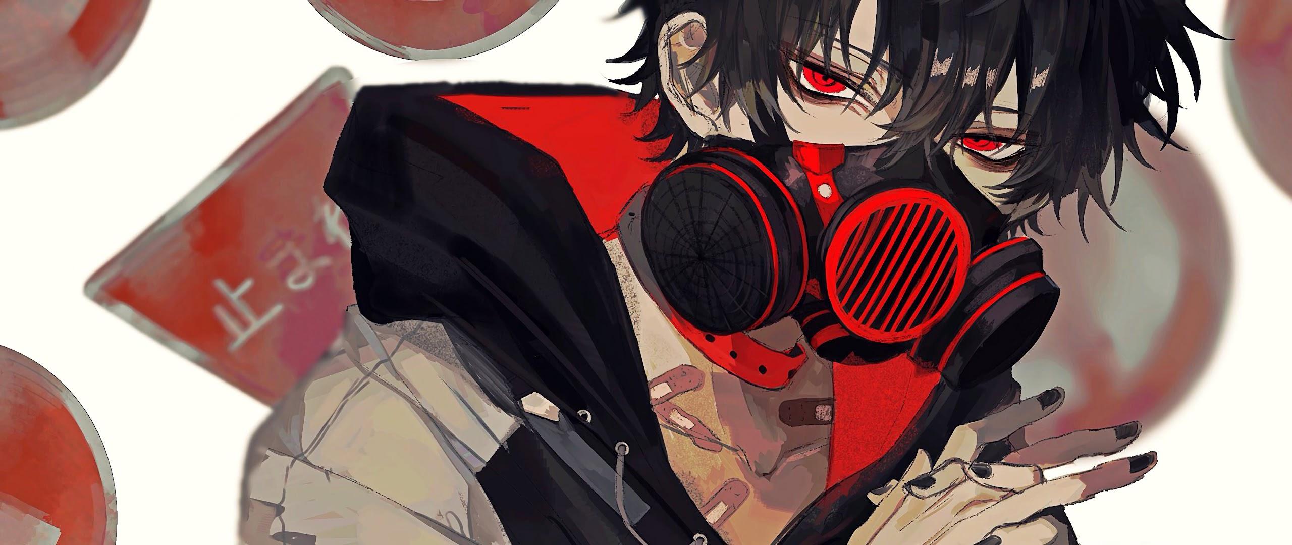 Anime, Boy, Gas Mask, 4K, #164 Wallpaper