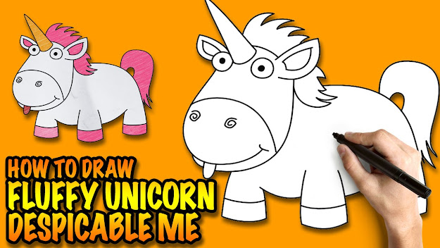 Minions Despicable Despicable Me Fluffy Unicorn Coloring Pages How To  Draw Unicorn