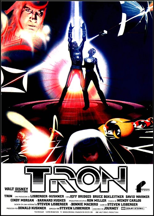 Tron, 1982, Steven Lisberger, Disney, Jeff Bridges, Bruce Boxleitner, David Warner