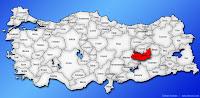 Elazığ ilinin Türkiye haritasında gösterimi